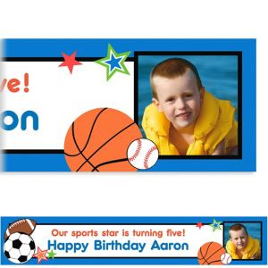 Custom Play Ball Party Photo Banner 6ft