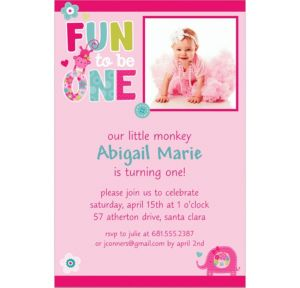 Custom One Wild Girl Photo Invitations