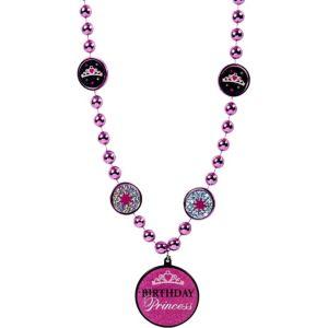 Birthday Princess Pendant Bead Necklace