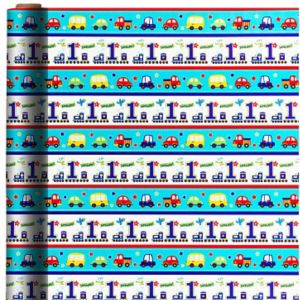 All Aboard 1st Birthday Gift Wrap