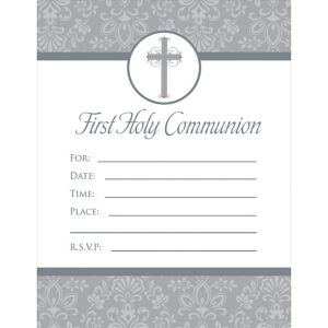 First Holy Communion Invitations 20ct