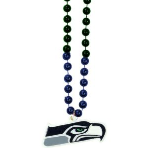 Seattle Seahawks Pendant Bead Necklace