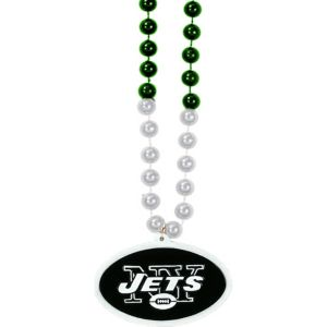 New York Jets Pendant Bead Necklace