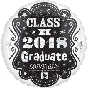 Chalkboard Marquee Class of 2017 Balloon