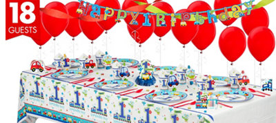 All Aboard First Birthday Party Supplies Super Party Kit