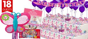 Sweet Girl 1st Birthday Party Supplies Ultimate Party Kit