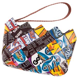 Hershey Candy Wrapper Wristlet