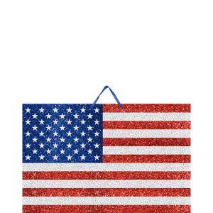 Glitter American Flag Sign