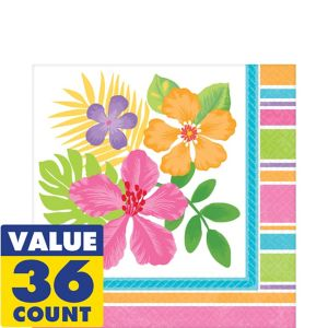 Colorful Hibiscus Lunch Napkins 36ct