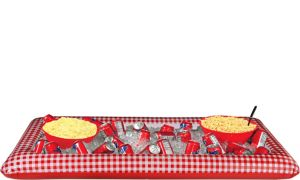 Picnic Party Red Gingham Inflatable Buffet Cooler