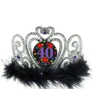Light-Up 40th Birthday Tiara