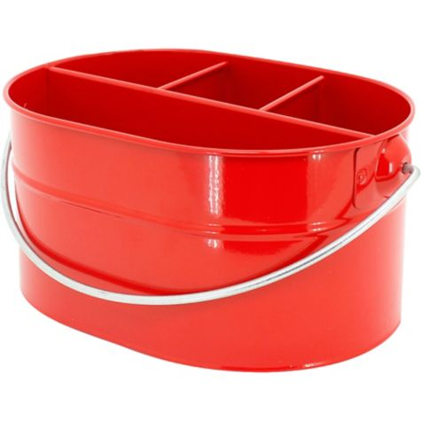 Party Utensil Caddy Red Metal Utensil Caddy 6