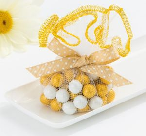 Gold Trimmed Tulle Circles 25ct