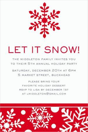 Custom Winter Holiday Invitations