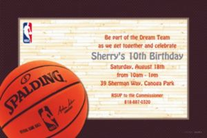 Custom NBA Spalding Invitations