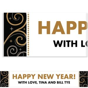 Custom Sparkling New Year's Banner 6ft