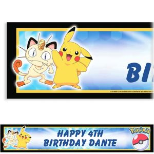 Custom Pikachu and Friends Banner 6ft