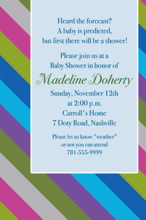 Custom Diagonal Stripe Cool Invitations