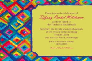 Custom Technicolor Ikat Invitations