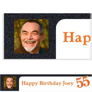 Custom Big Celebration 55 Photo Banner 6ft