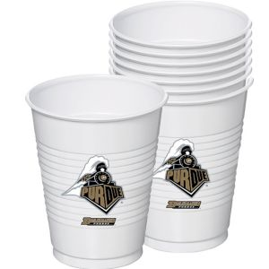 Purdue Boilermakers Plastic Cups 8ct
