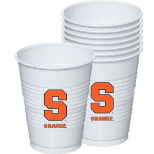 Syracuse Orange Plastic Cups 8ct