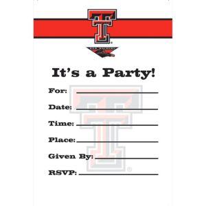 Texas Tech Red Raiders Invitations 8ct