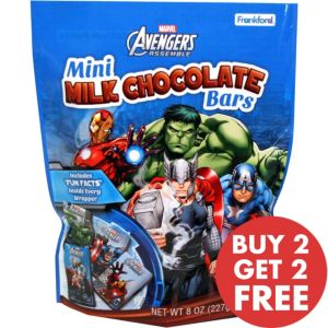 Avengers Mini Milk Chocolate Bars 18pc