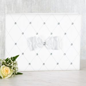 White Wedding Guest Book Set 3pc