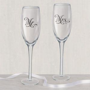 Mr. & Mrs. Wedding Toasting Glasses 2ct