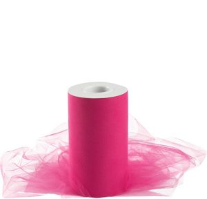 Bright Pink Tulle Spool