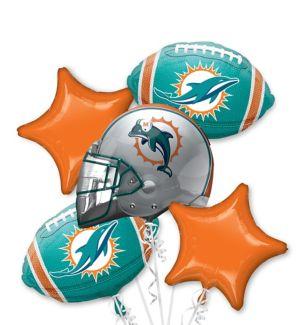 Miami Dolphins Balloon Bouquet 5pc