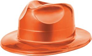 Orange Plastic Fedora