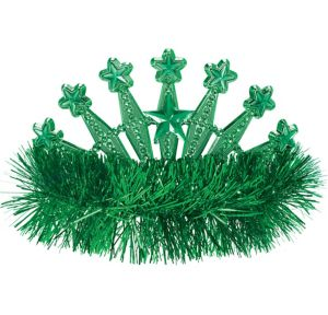 Green Star Tinsel Tiara