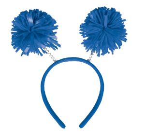 Blue Pom-Pom Head Bopper