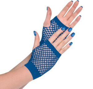 Blue Fishnet Glovelettes