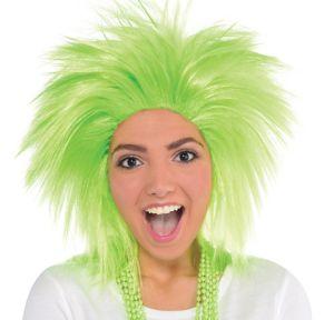 Neon Green Crazy Wig