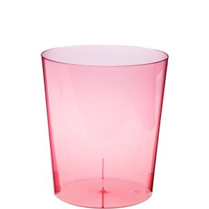 Pink Plastic Cylinder Container
