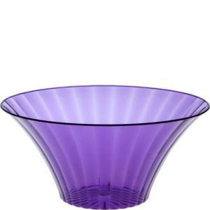 Purple Plastic Flared Bowl