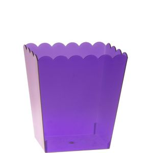 Small Purple Plastic Scalloped Container