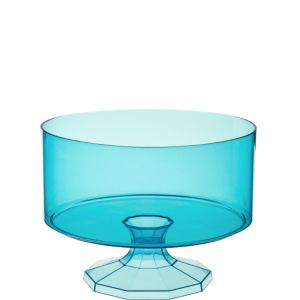 Small Caribbean Blue Plastic Trifle Container