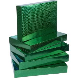 Prismatic Green Clothing Boxes 5ct