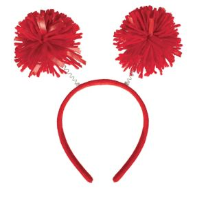 Red Pom-Pom Head Bopper