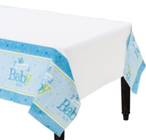 Welcome Baby Boy Baby Shower Table Cover