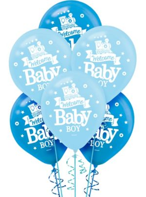 Welcome Baby Boy Baby Shower Balloons 15ct