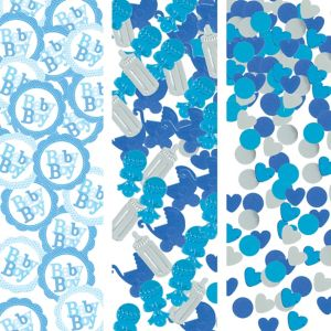 Blue Baby Shower Confetti