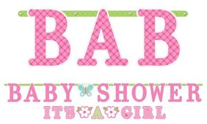 Welcome Baby Girl Baby Shower Letter Banners 2ct