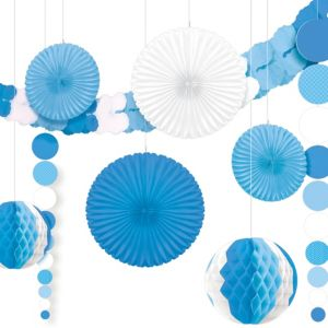 Blue & White Room Decorating Kit 9pc