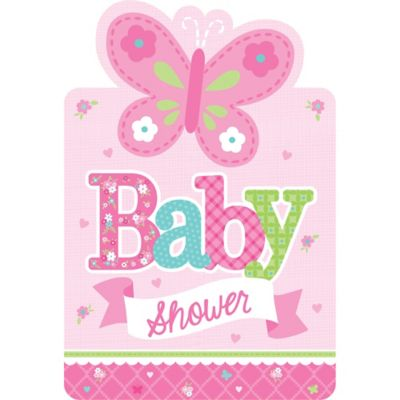 welcome little one girl baby shower invitations 8ct party city