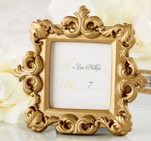 Gold Baroque Photo Frame Place Card Holder